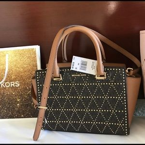 $348 Michael Kors SELMA Handbag MK Purse Bag